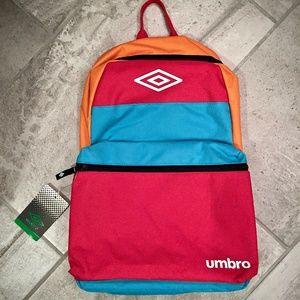 """Umbro 18"""" Colorblock Backpack - Red/Blue/Orange"""